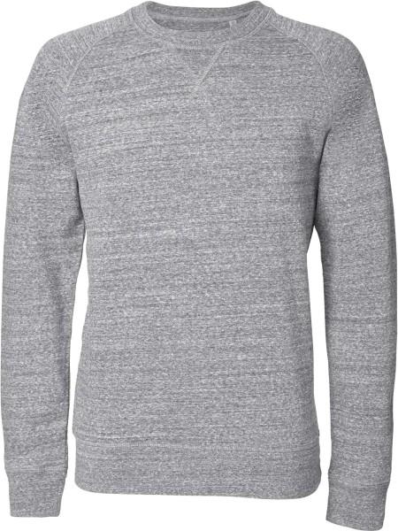Sweatshirt aus Bio-Baumwolle - slub heather grey