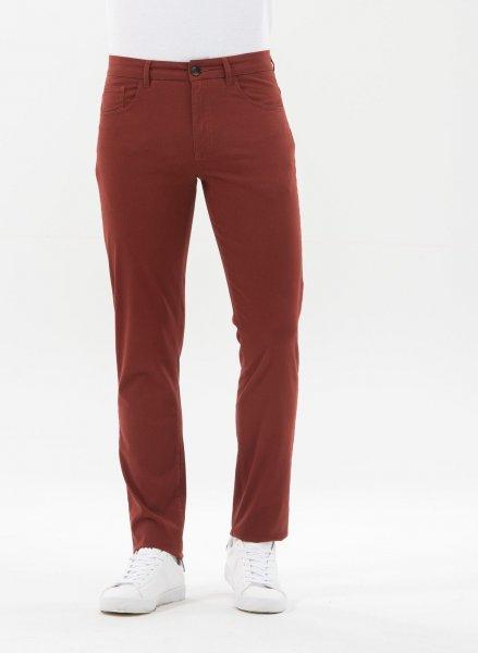 Tight Fit 5-Pocket-Hose aus Bio-Baumwolle - hot chocolate