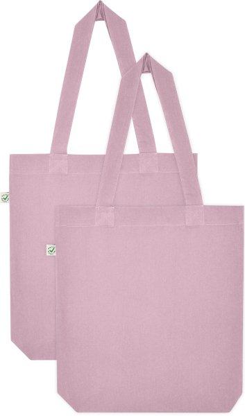 Doppelpack - Organic Cotton Bag - purple rose