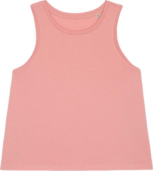 Kurzes Tank-Top aus Bio-Baumwolle - canyon pink