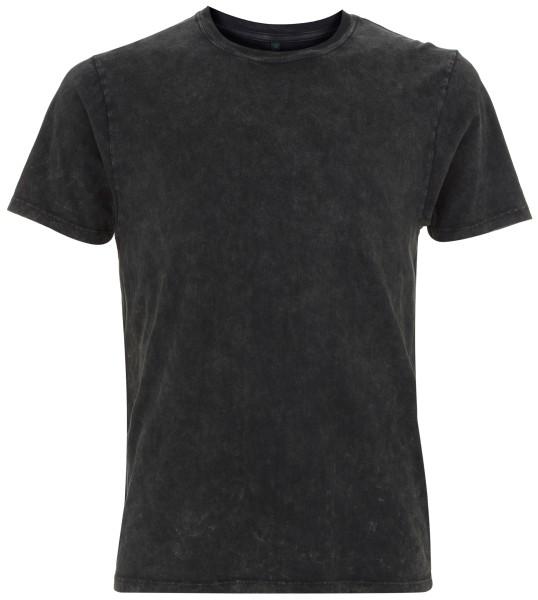 T-Shirt Waschung acid black