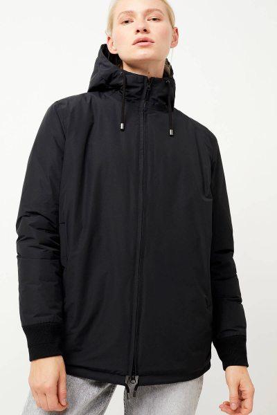 Alleena - Winterjacke aus Bio-Baumwolle & recyceltem Nylon - black