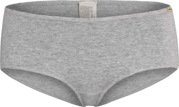 Panty aus Fairtrade Biobaumwolle - grau-melange
