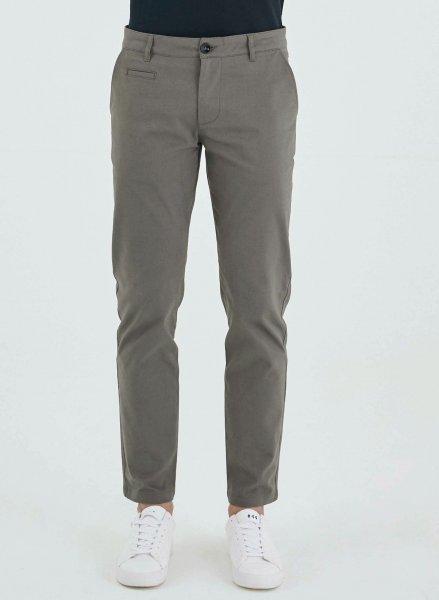 Regular Fit Chino-Hose aus Bio-Baumwolle - grey