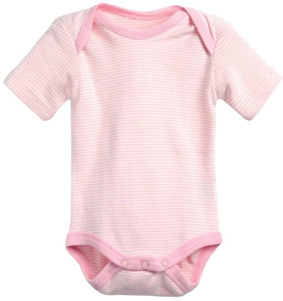Baby Kurzarm-Body aus Bio-Baumwolle - rosa-natur - Bild 1