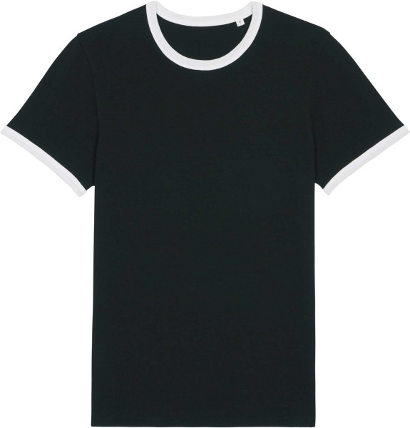 Retro T-Shirt aus Bio-Baumwolle - black/white