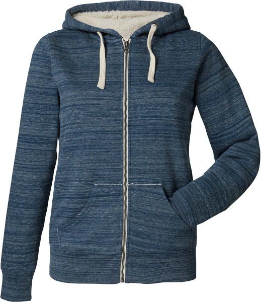 Gefütterte Sweatjacke aus Bio-Baumwolle - snow dark heather blue