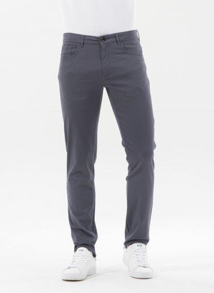 Tight Fit 5-Pocket-Hose aus Bio-Baumwolle - steel