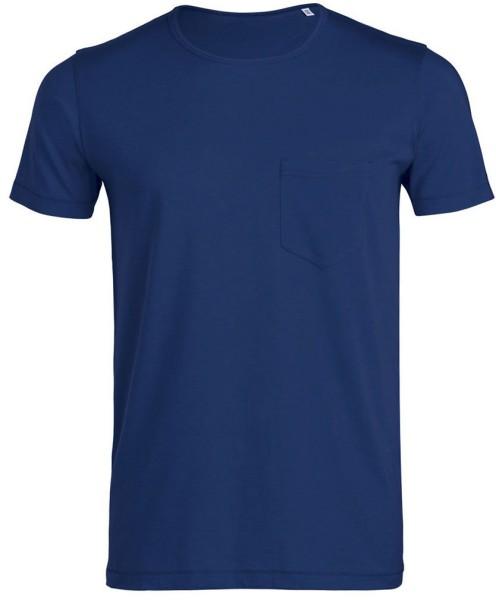 Creates - Bio-Shirt mit Brusttasche - deep royal blue
