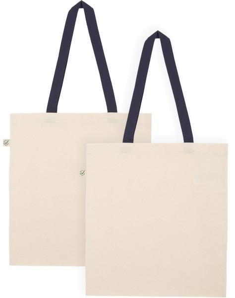 Doppelpack - Organic Cotton Bag - natur-navy