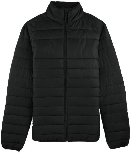 Wattierte Jacke schwarz recyceltes Polyester
