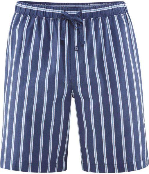Schlaf-Shorts aus Bio-Baumwolle - navy/azur