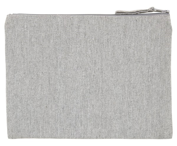 Schminktasche/Federmäppchen aus recyceltem Stoff - heather grey