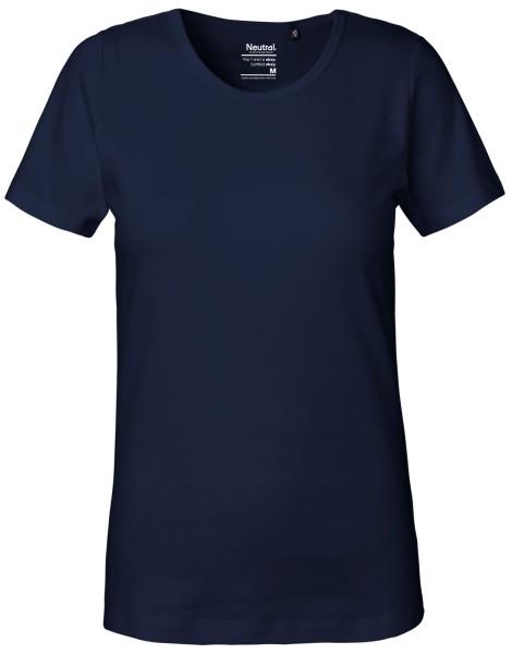 Schweres Frauen T-Shirt navy 81029