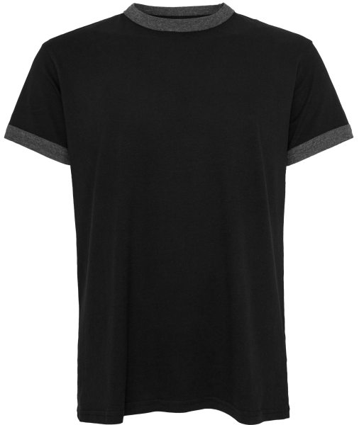 Organic Retro Ringer T-Shirt - black/charcoal
