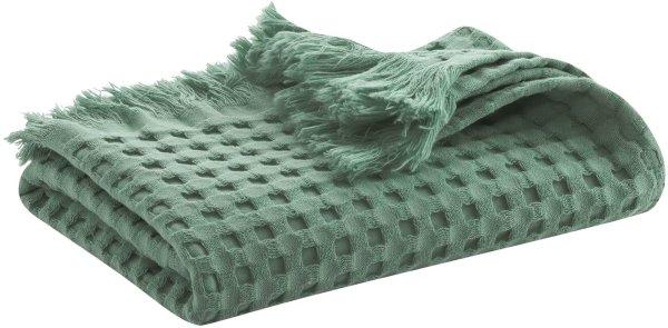 Waffelpiqué-Badetuch aus Bio-Baumwolle 140x70 cm - myrtle