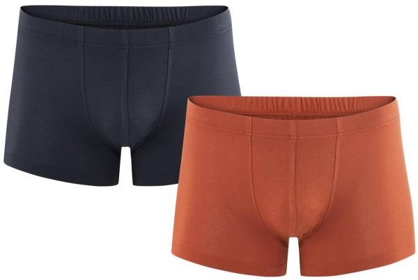 Herren Pants Doppelpack orange dunkeblau Bio-Baumwolle