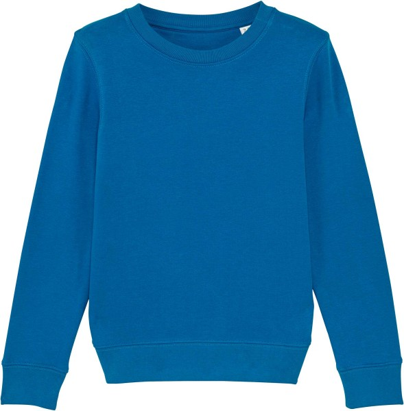 Kinder Sweatshirt aus Bio-Baumwolle - royal blue