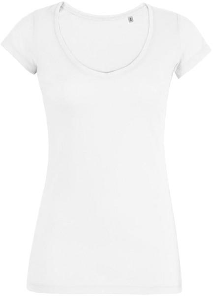 Smiles - Leichtes V-Neck T-Shirt aus Bio-Baumwolle - weiß - Bild 1