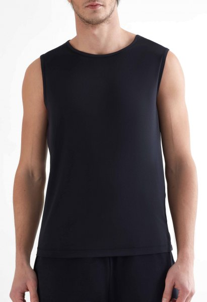 Active Tank Top aus Recycle-Polyester - black
