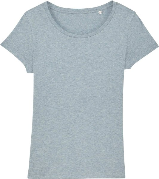 Jersey-Shirt aus Bio-Baumwolle - heather ice blue