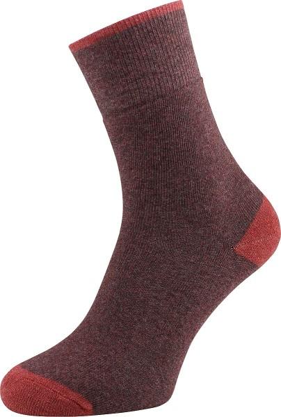 Frottee-Socken bordeaux aus Bio-Baumwolle