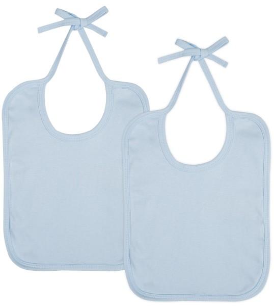 Baby Lätzchen aus Bio-Baumwolle Doppelpack - soft blue