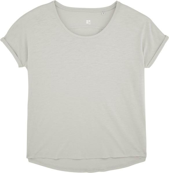 Weites Slub T-Shirt aus Bio-Baumwolle - light opaline