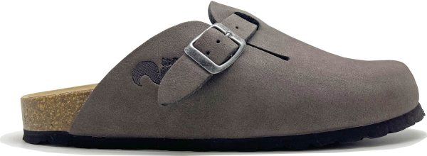 Clogs aus recyceltem Material - charcoal