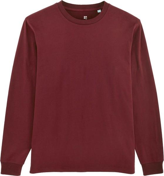 Langarmshirt aus Bio-Baumwolle - burgundy