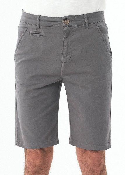 Slim Fit Shorts aus Bio-Baumwolle - shadow