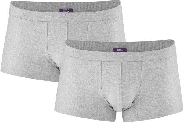 Herren Pants aus Bio-Baumwolle - 2er-Pack - grey melange