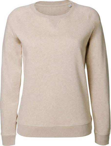 Sweatshirt aus Bio-Baumwolle - mid heather beige