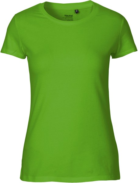 Fitted T-Shirt aus Fairtrade Bio-Baumwolle - lime