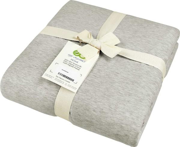 Bettdeckenbezug aus Bio-Baumwolle - beige-meliert