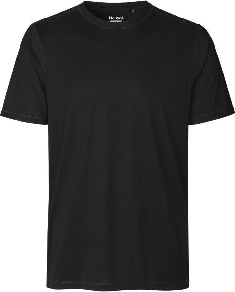 Performance T-Shirt aus recyceltem Polyester - black