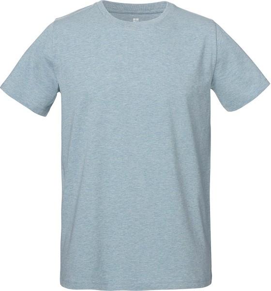 Herren T-Shirt - Bio & Fair - hellblau meliert