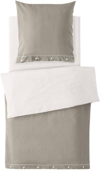 Satin-Bettwäsche-Set aus Bio-Baumwolle 135x200cm - cashmere