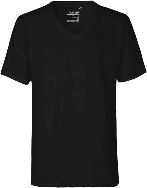 Organic Deep V-Neck T-Shirt Fairtrade schwarz