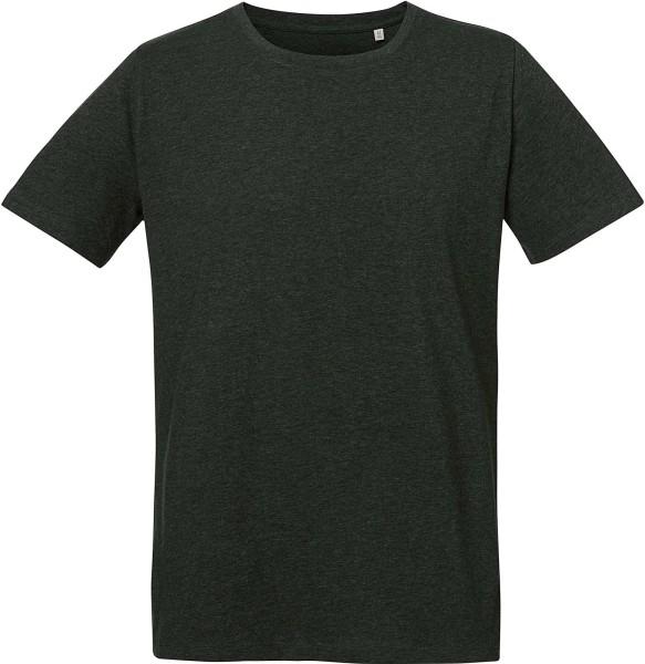 Live - Unisex T-Shirt mit Seitenschlitzen - dark heather grey