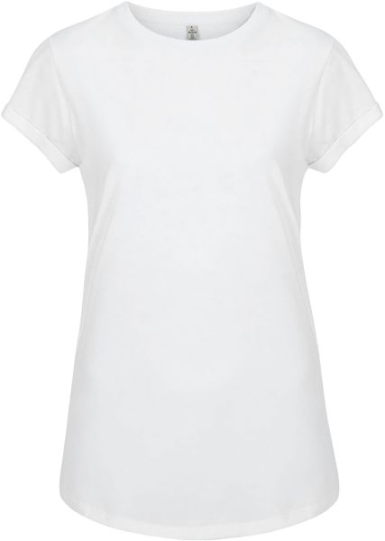 Recycled Rolled Sleeve T-Shirt - dove white