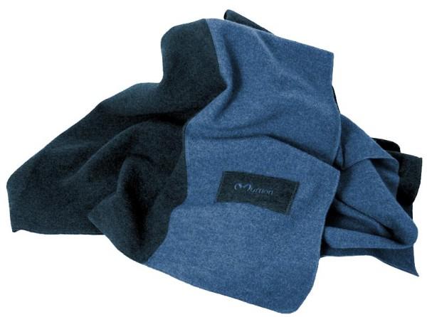 Decke Wolle blau Mufflon Made in Germany