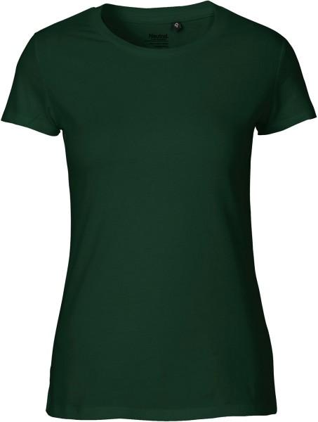 Fitted T-Shirt aus Fairtrade Bio-Baumwolle - bottle green