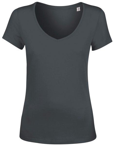 T-Shirt V-Ausschnitt Damen Bio-Baumwolle Chooses