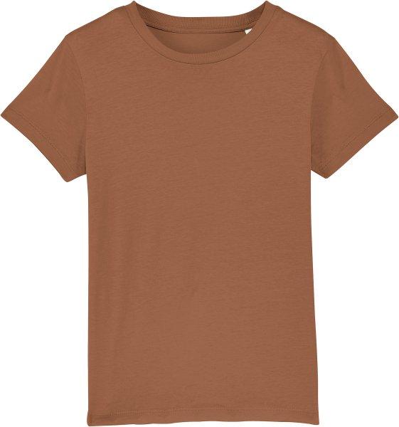 Kinder T-Shirt aus Bio-Baumwolle - caramel