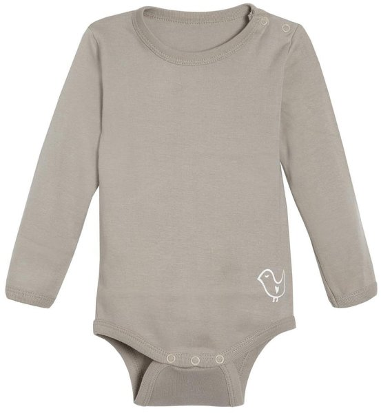 Baby Langarm-Body aus Bio-Baumwolle - taupe - Bild 1