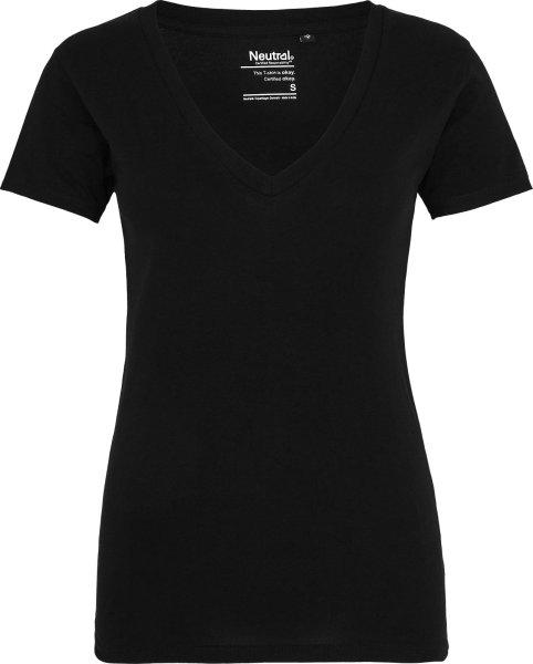 Für Frauen: V-Neck T-Shirt mit tiefem Halsausschnitt