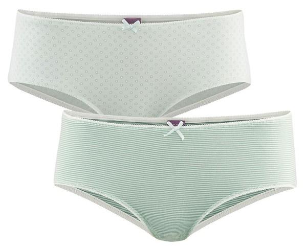 Panty aus Bio-Baumwolle - Doppelpack - rosemary/mint - Bild 1