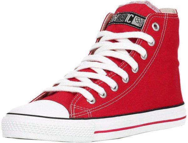 Fair Trainer White Cap Hi Cut - Cranberry Red/Just White