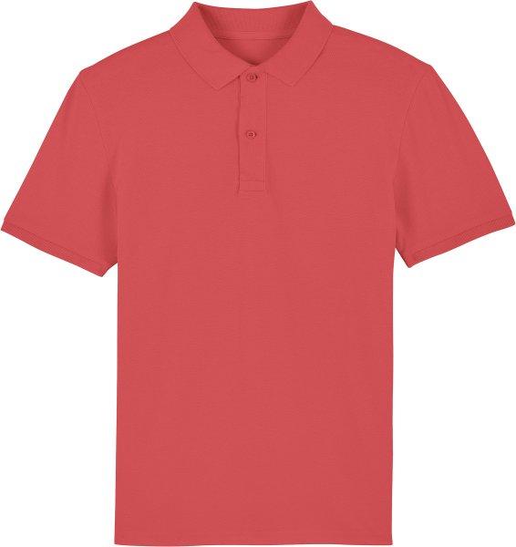 Piqué-Poloshirt aus Bio-Baumwolle - carmine red